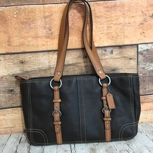 Coach Chelsea Brown Bubbled Leather Bag